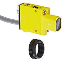 Banner SM312LP Mini Beam DC Photoelectric Sensor, Polarized Retroreflective Mode, Cable Termination, 3m Sensing Range, 2m Cable Length