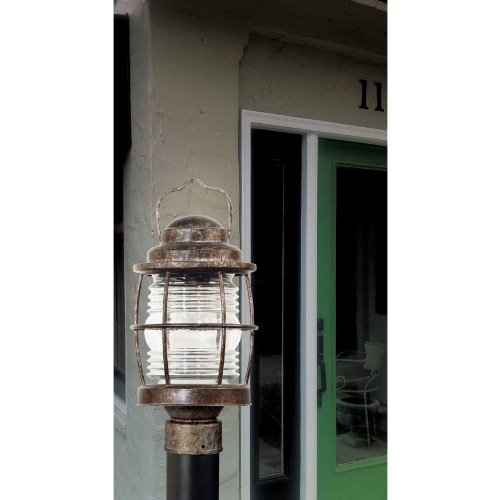 Kenroy Home 90956FL Beacon Post Lantern, Flint