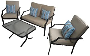 Strathwood Brentwood 4-Piece All-Weather Furniture Set by Strathwood
