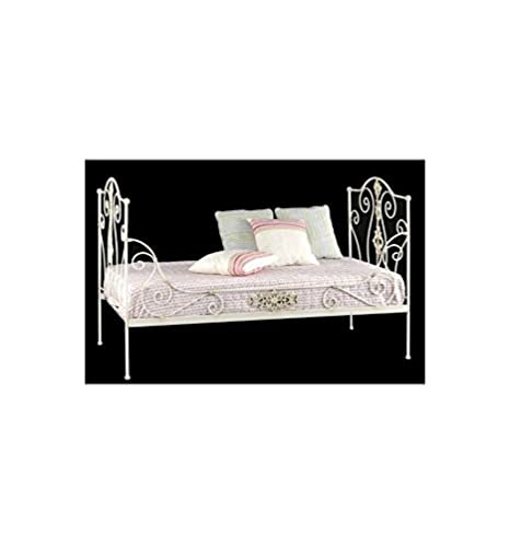 Sofá cama de forja Princesa - Negro puro, Somier con medidas de 90x200 cm.