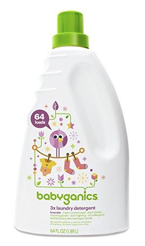Babyganics 3x Baby Laundry Detergent, Lavender, 64oz Bottle
