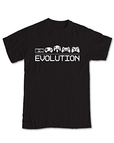 Evoluzione di gioco per Video Game, Maglietta Black L