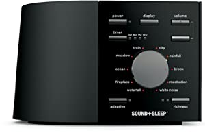SOUND+SLEEP (Ecotones Duet) Adaptive Sound Machine, Black