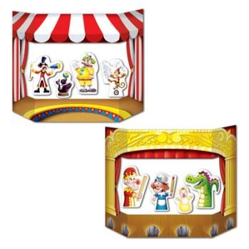 Puppet Show Theater Photo Prop (1 side circus; other side theater) Party Accessory  (1 count) (1/Pkg) - 1