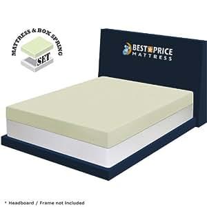 best price mattress 6 memory foam mattress new innovative box spring set queen. Black Bedroom Furniture Sets. Home Design Ideas