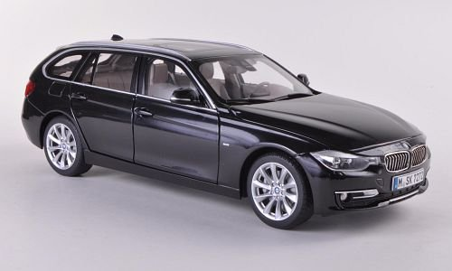 BMW 3er Touring (F31), met.-schwarz , 2012, Modellauto, Fertigmodell, Paragon 1:18