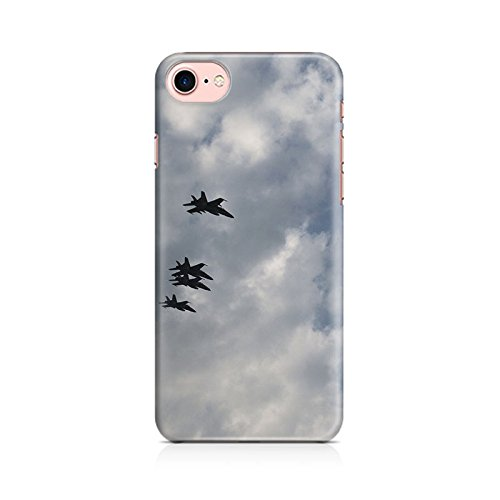 99mBox - Jets flying on blue sky Apple Iphone 7 cover- Matte Polycarbonate 3D Hard case Mobile Cell Phone Protective BACK CASE COVER. Hard Shockproof Scratch-Proof Accessories