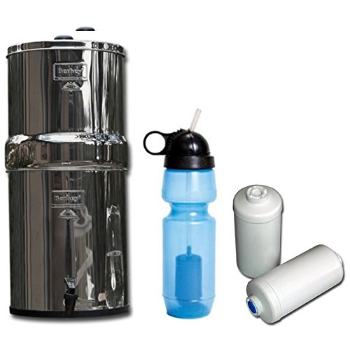 Travel Berkey With 2 Black Filters And 2 Fluoride Fitlers And Water Purifier Bottle Holiday Deals Skngss505