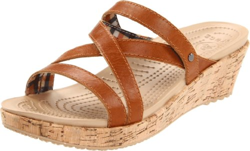 Crocs Women's A-Leigh Mini Wedge Sandal,Cocoa,10 M US