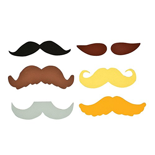 48 Mustache Refrigerator Magnets - Assorted Styles Moustache Birthday Party Favors front-890174