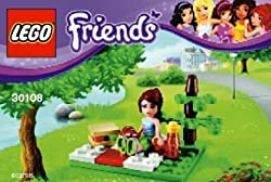 Toy / Game Lego Friends Great Summer Picnic Bag Set 30108 With Mia Minifigure For Ages 3 Years And Up