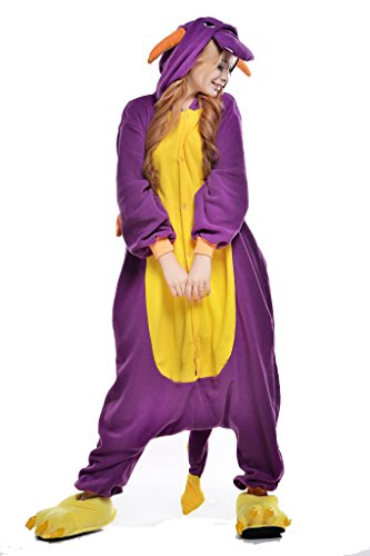 Newcosplay Unisex Monster Dragon Pyjamas Kigurumi Halloween Onesie Costume