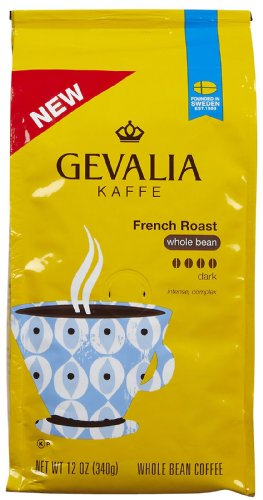 Gevalia Premium French Roast Whole Bean Coffee-12 oz (Coffee Gevalia Whole Bean compare prices)