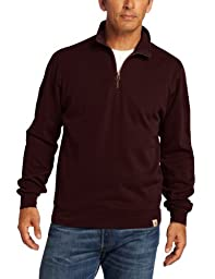 Carhartt Men's Big & Tall Sweater Knit Quarter Zip Relaxed Fit,Port,X-Large