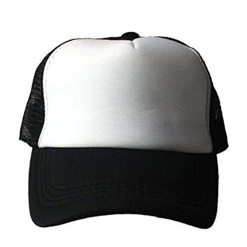 Amlaiworld Unisex Berretto da baseball,Maglia cappello berretto da Baseball Trucker cappello visiera curvo vuoto regolabile