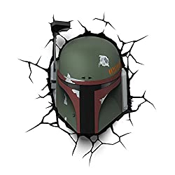 3D Light FX Star Wars Boba Fett 3D Deco LED Wall Light