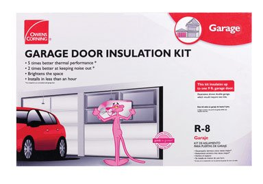 Owens-Corning 500824 Garage Door Insulation Kit, Includes R-8 Fiberglass Panels with White Vinyl Facing, Insulates Single Garage Door Up To 9-Feet Wide
