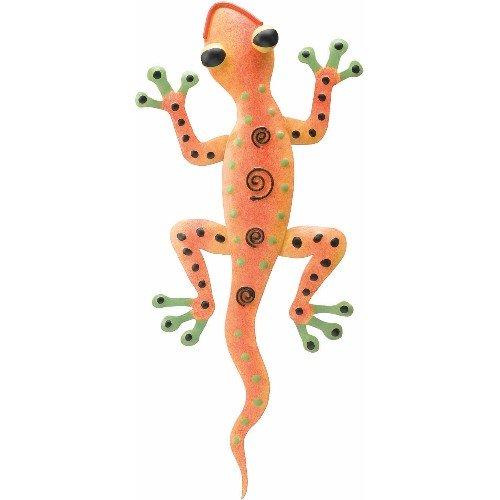 Wall Art Handcrafted Decor Gecko Spiral Orange (5Wx11) - Regal Art #R155