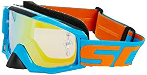 Scott Tyrant Goggles - Electric Blue/Orange Chrome Works