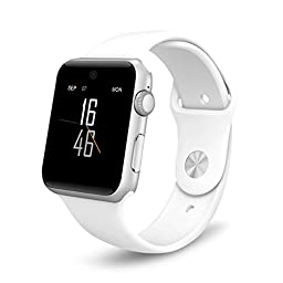 Qiufeng Superior Quality,First Class Workmanship,Smart Watch Bluetooth Watch Wrist Watch GSM Phone with G-sensor Fitness Tracker for Ios,android Iphone (Dm09 White)