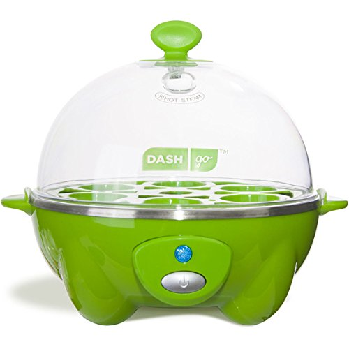 Dash DEC005GR GREEN 6 Egg Rapid Cooker w/ Poaching Tray & Measuring Cup
