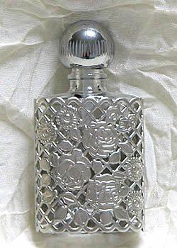 パース パフューム ボトル 平楕円 メッシュ巻き 2952 マット銀
