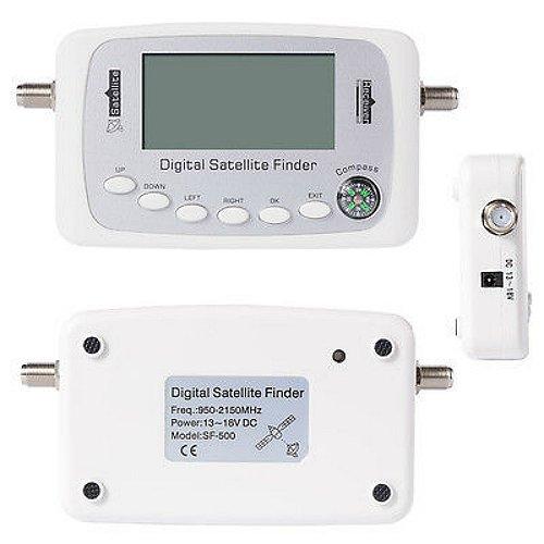 SF-500 Digital Satellite Signal Finder Meter LNB Free to Air Signal White