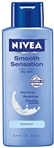 Nivea Body Daily Lotion for Dry Skin, Smooth Sensation, 8.4 Fluid Ounce Bottle (Pack of 4) by Nivea
