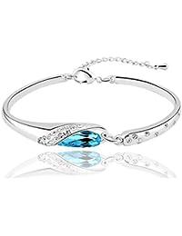 Nakabh Elegant Sea Blue Bracelet Kada Nickel Free Jewellery For Girls And Women