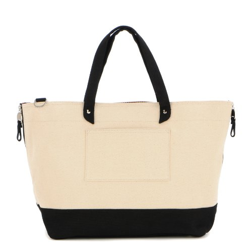 Danzo Diaper Canvas Tote Bag, Black front-363751
