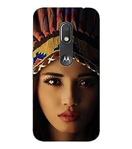 EPICCASE Tribal woman Mobile Back Case Cover For Moto Play (Designer Case)