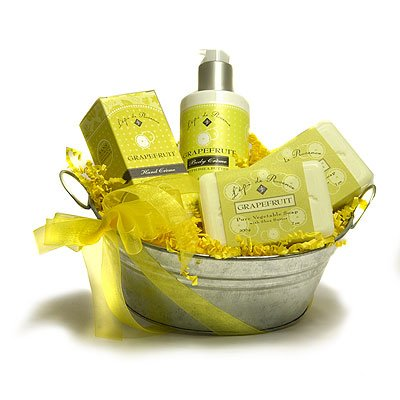 L'Epi de Provence French Soap - Hand Cream - Body Cream Gift Basket - Grapefruit