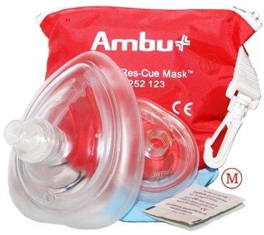Pack of 5 Ambu CPR Res-Cue Masks, Adult/Child & Infant, Soft