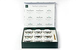Rosali Tea - Gift Collection - 9 artisanal teas in tins with engraved teaspoon (Herbal Collection)