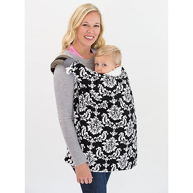 Infant 4-in-1 Blanket on the Go in Black Damask | Makes a nice gift for new moms | Measures 32