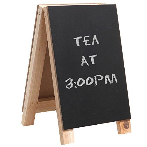 8 inch Tabletop Mini Freestanding Wooden Easel Blackboard / Display Chalkboard Sign / Message Memo Board - MyGift®