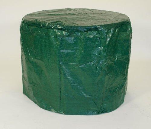 Abdeckhaube für Tische und Garnituren bis 125cm, PE dunkelgrün
