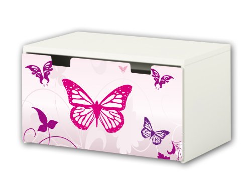 Pink World Sticker suitable for Children`s Storage Bench STUVA from IKEA (90 x 50 cm) - BT16