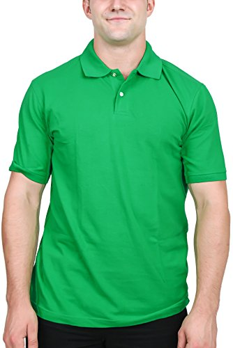 Men 39 S Pique Polo Shirt Irish Green Small Apparel