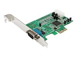 StarTech.com 1 port Native PCI Express RS232 Serial Adapter Card with 16550 UART - serial adapter -