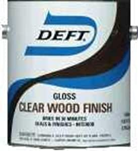 Deft 01001 Clear Wood Finish Lacquer 1gal Gloss Pack Of