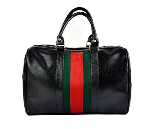 black-top-handle-evening-designer-faux-leather-shoulder-strap-handbag