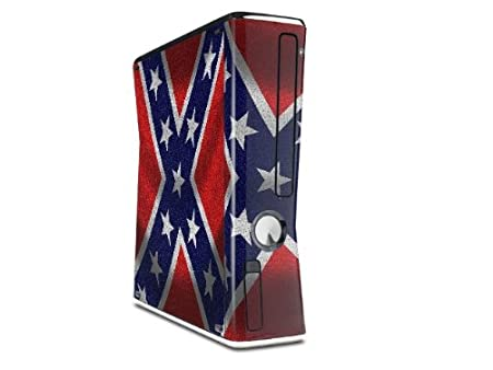 Confederate Rebel Flag Decal Style Skin for XBOX 360 Slim Vertical