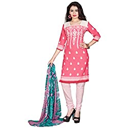 Manthan Crepe Light Pink Printed Women's Chudidar Suit MNTKFKLFSY44005
