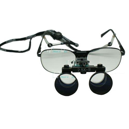 Dental Lab Surgical Medical Binocular Eye Loupe Glass 2.5X Amplification