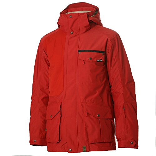 B0084A6OIA Planet Earth Men's Gabriel Insulated Jacket, Dark Red, Large