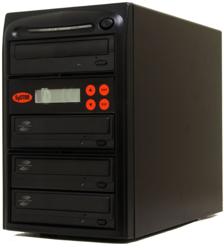 Systor 1-3 SATA CD DVD Duplicator 20X LightScribe Burner Equipment with USB Connection (£40 value)