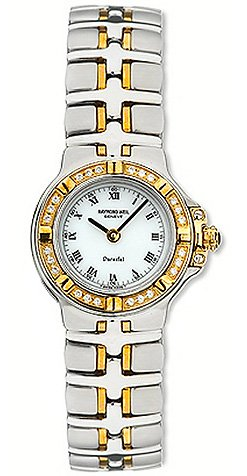Raymond Weil Parsifal Mini Stainless Steel 18k Gold Diamond Womens Watch 9690-DB