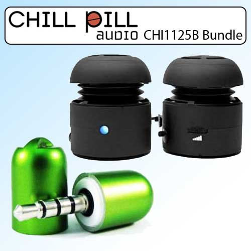 Chill Pill Chi1125B Mobile Speakers Kit With Rap Cap Microphone