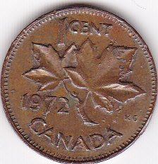 1972 Canada Cent